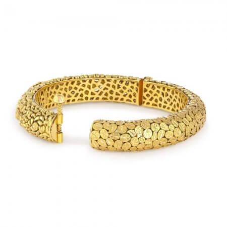 31955 , 31956 - 22 Carat Gold Kada With Antique Finish