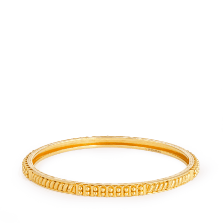 8356 - 22Kt Yellow Gold Single Daily Wear Bangle