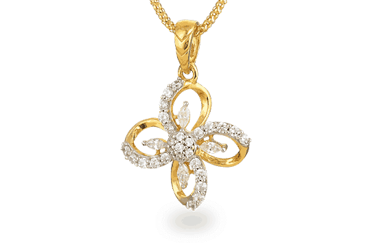 - 22ct Pendant with Cubic-Zirconia stone