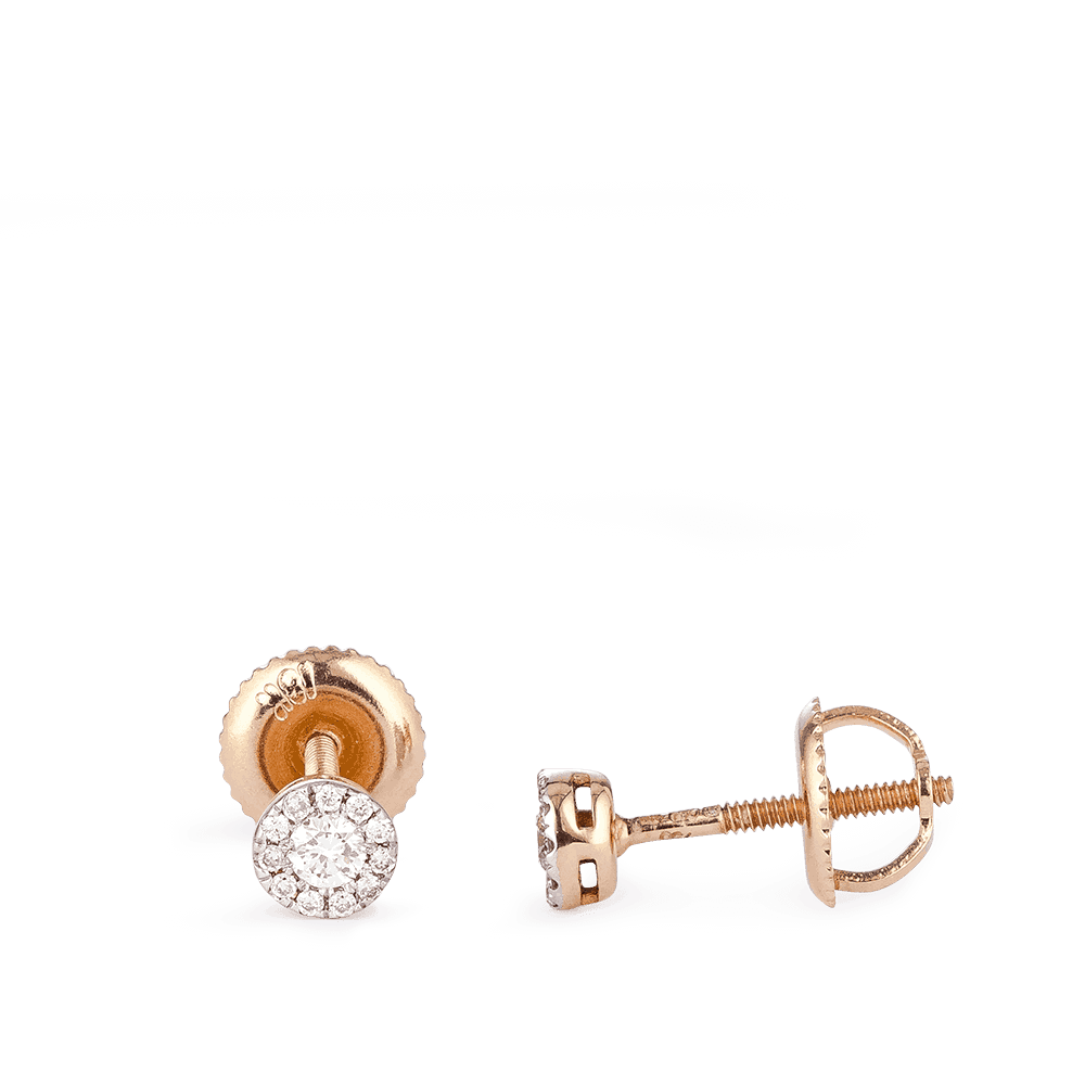 28989 - Diamond Studs In Rose Gold