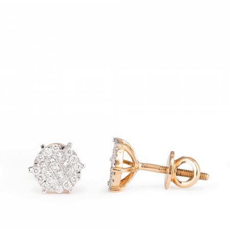 27122 - Diamond Stud In Rose Gold