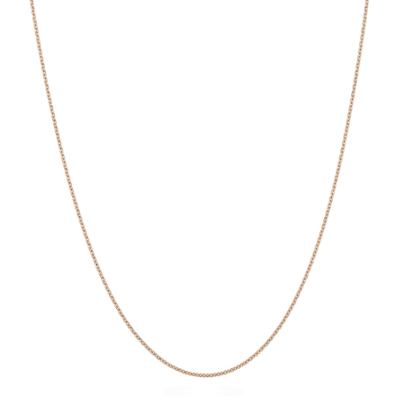 """27447 - 18ct Rose Gold Chain 18"""" Inches"""