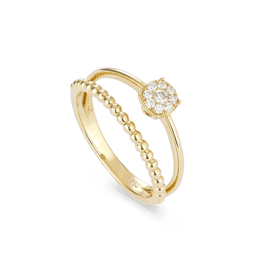 27743 - 18kt Yellow Gold Diamond Rings UK