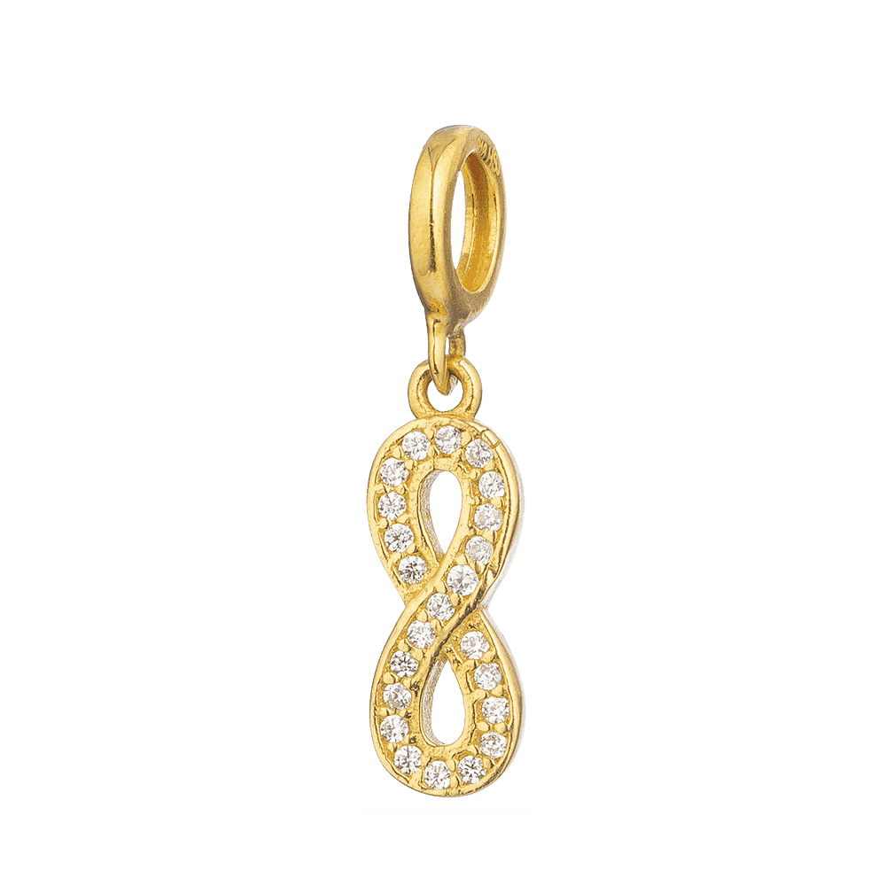 28253 - Asian Gold Charm Pendant with CZ Stones