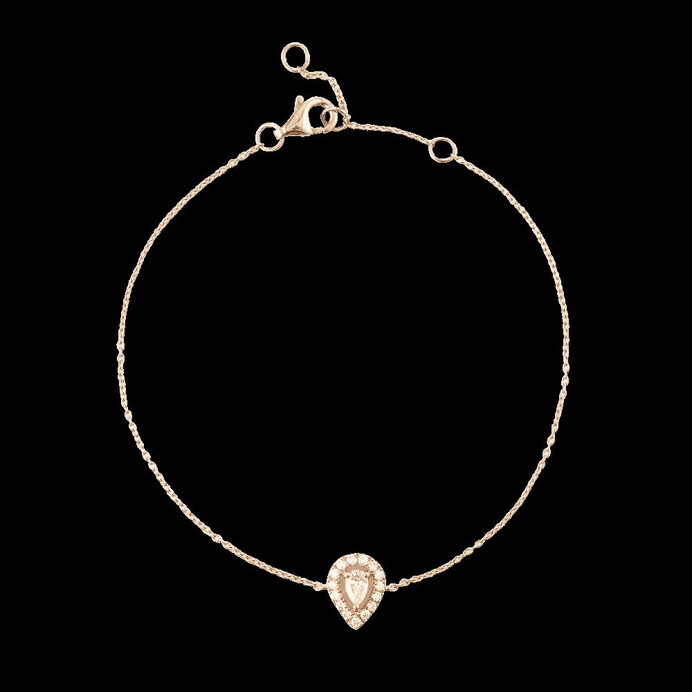 28558 - 18ct Rose Gold Diamond Bracelet