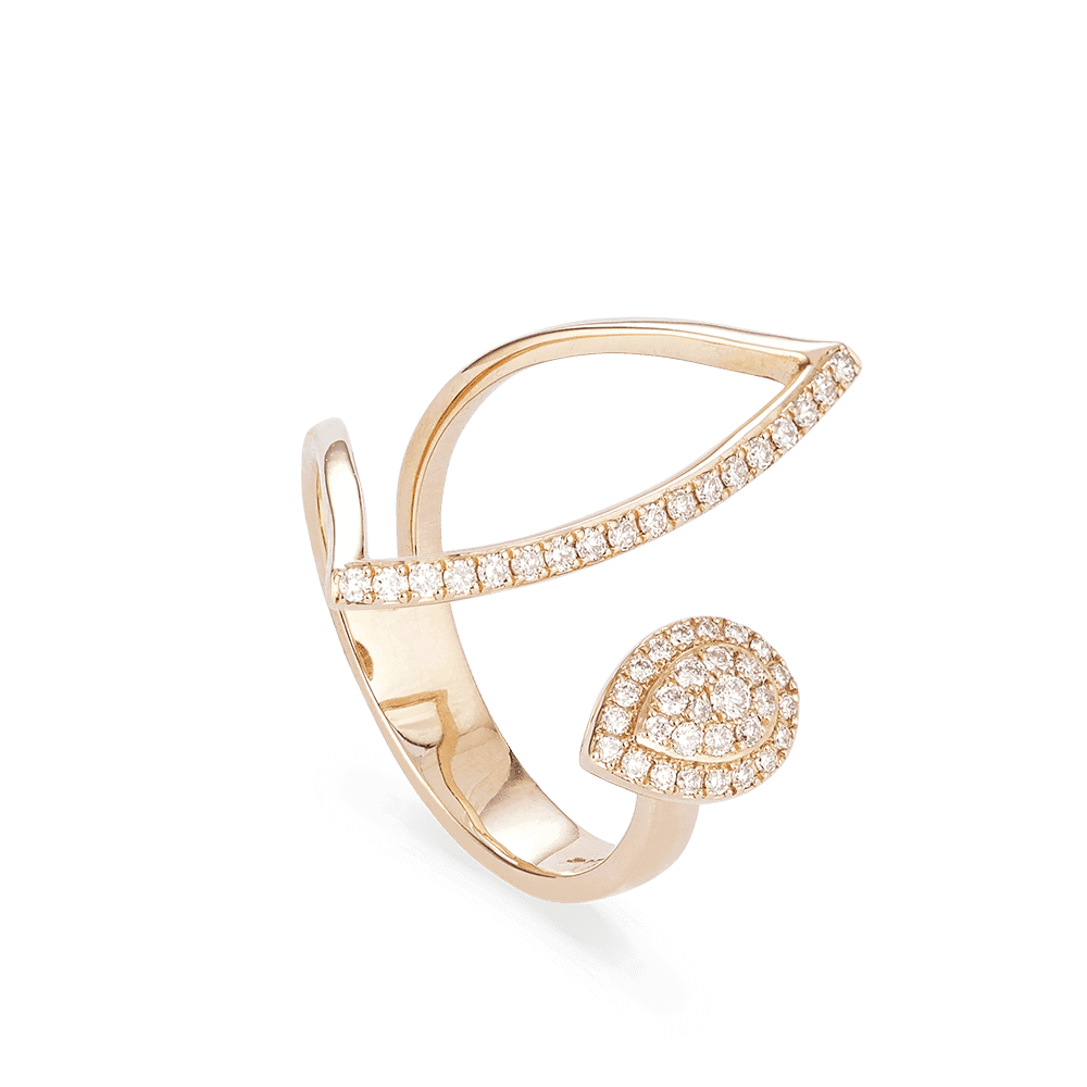 28568 - Dress Diamond Rings in Rose Gold