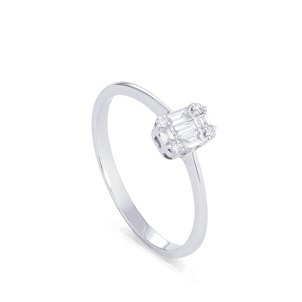 28581 - Baguette Diamond Ring in 18ct White Gold
