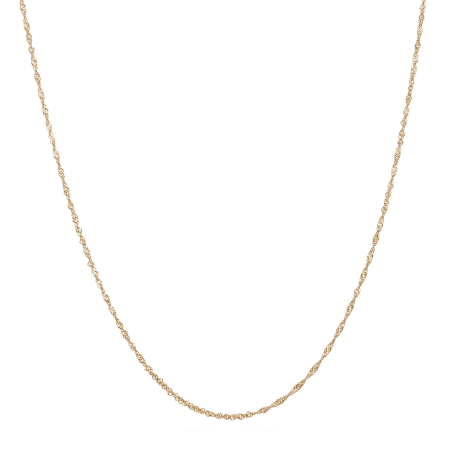 28742, 28740 - 22kt Yellow Gold Ripple Chain in 16 Inches