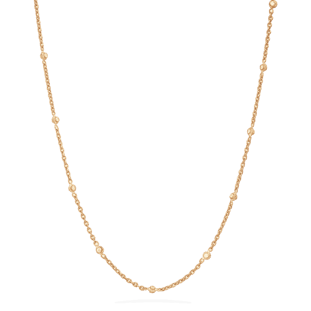 31717 - 22 carat Gold Chain with Polki Stones
