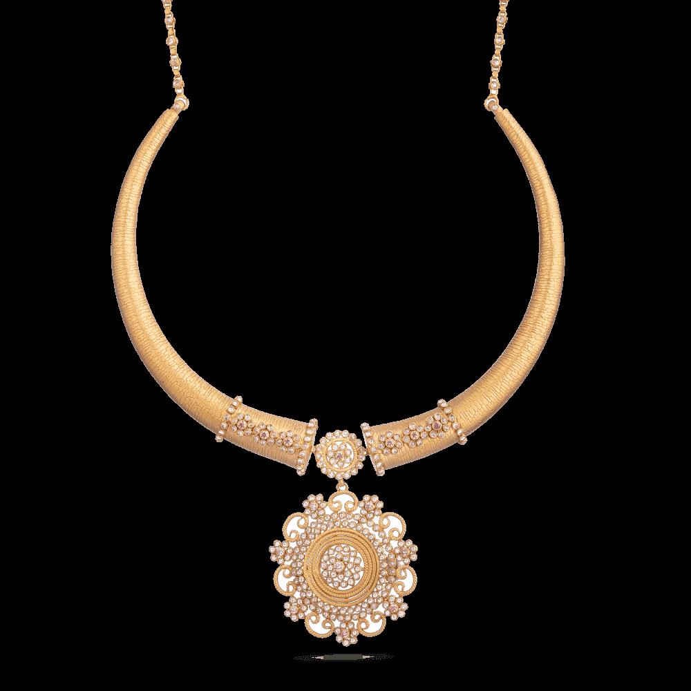 28891 - Indian Gold Bridal Necklace Set