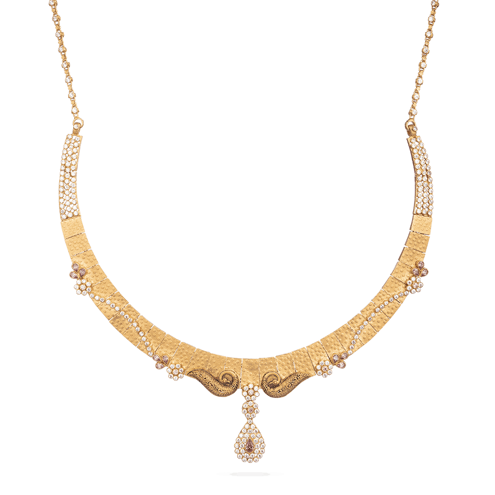 28893 - Bridal Necklace With Antique Finish