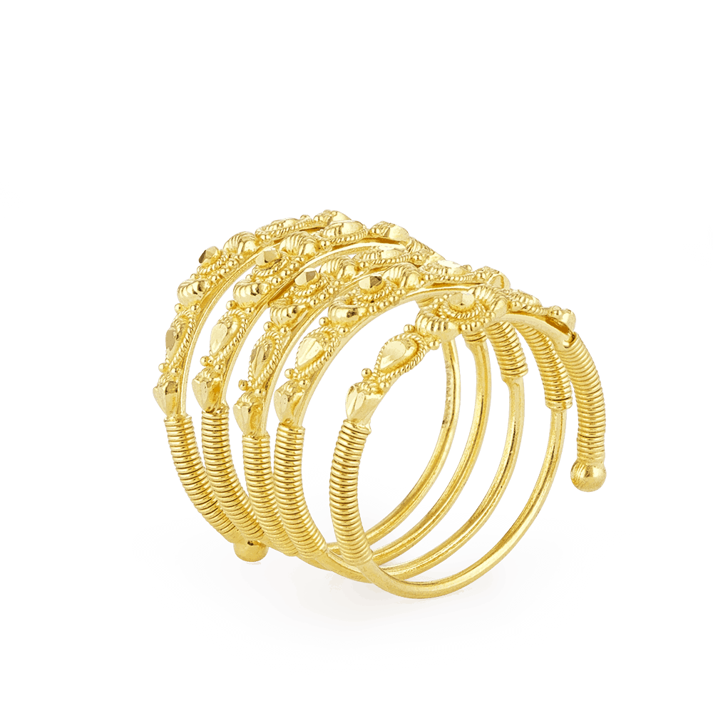 28903 - Indian Gold Ring In 22ct