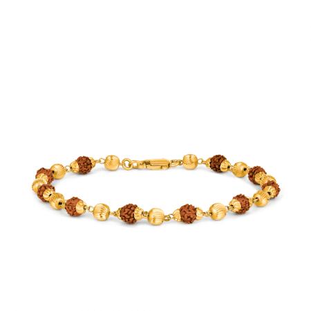 28961 - 22 Carat Yellow Gold Rudraksha Bracelet