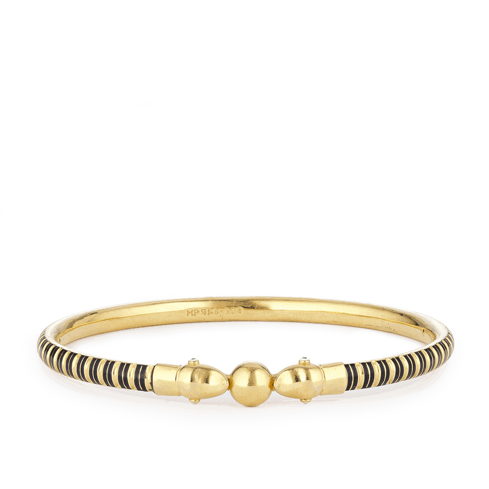 28967 - 22ct Gold Bangle With Enamel work