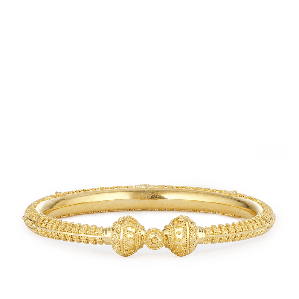 28972 - 22ct Gold Filigree Kada Bangle
