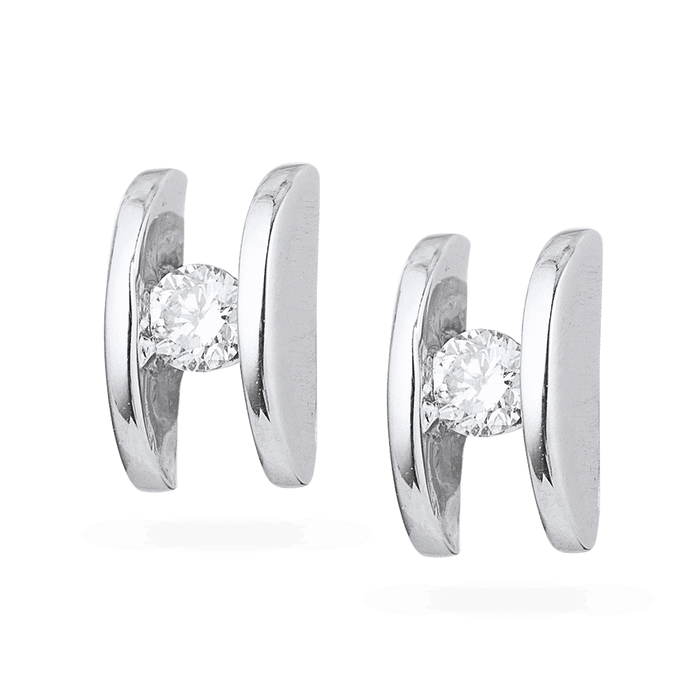 5558 - 18ct White Gold Diamond Stud Earring