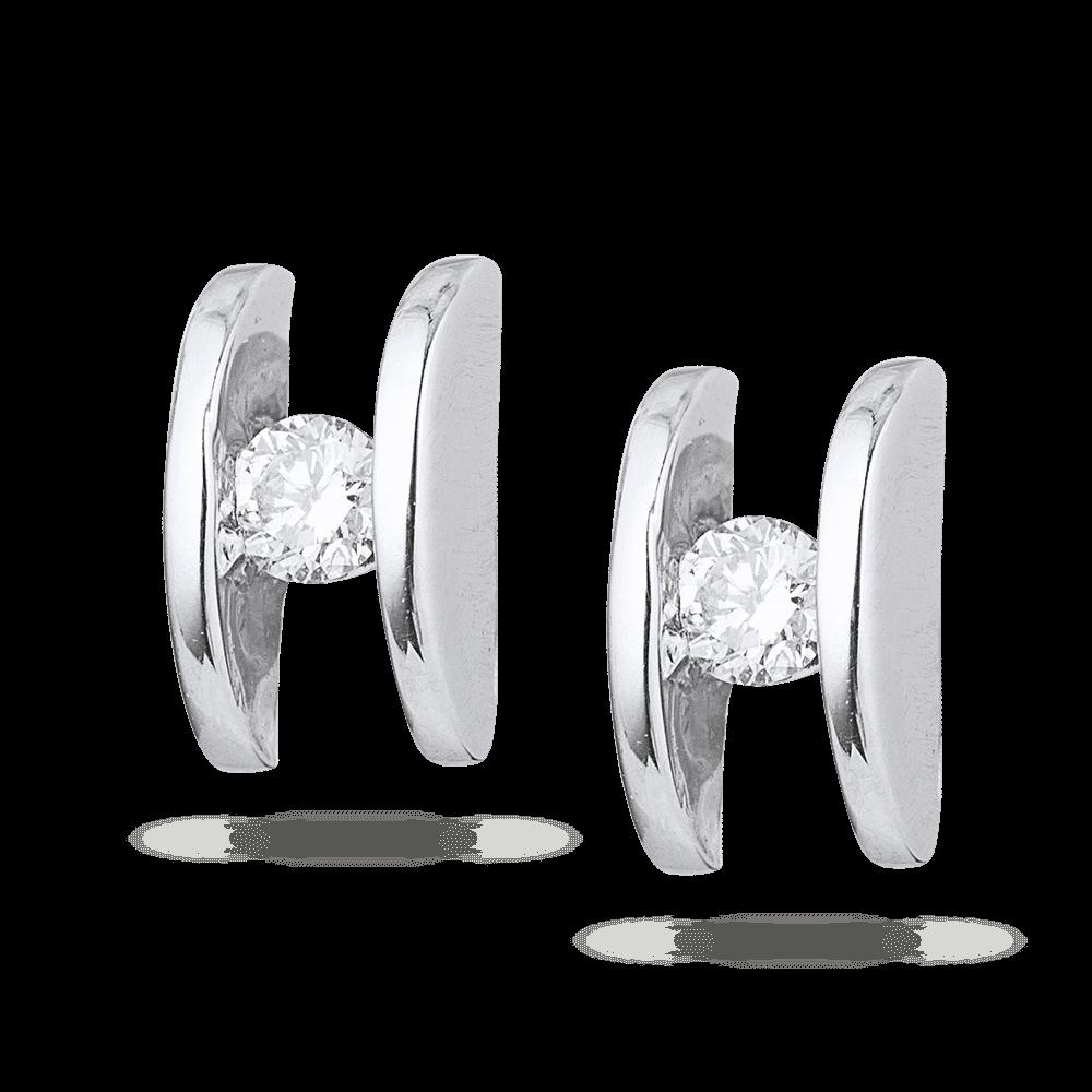 5558 - 18ct White Gold Diamond Stud Earring