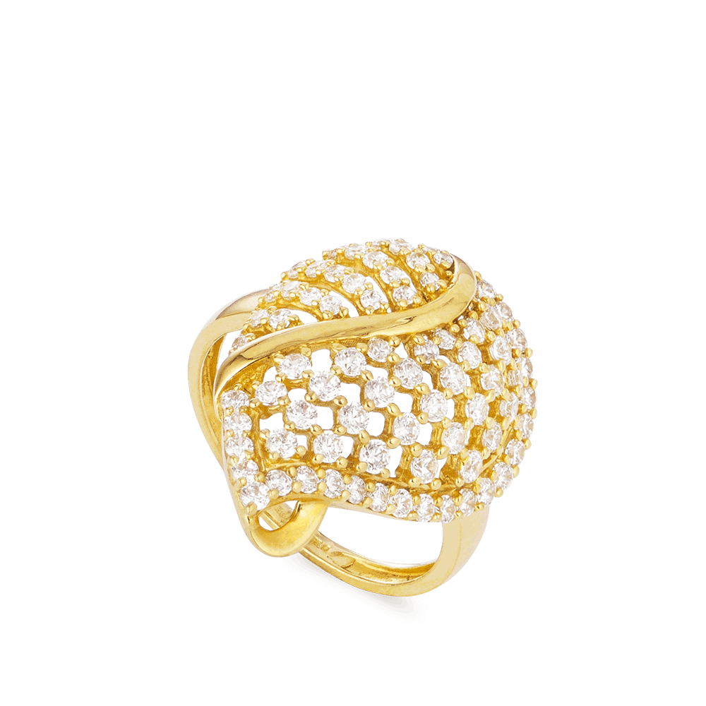 25477 - 22ct Gold CZ Ring