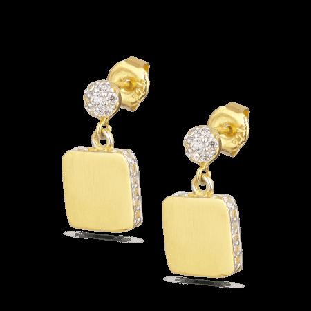 28535 - 22KT Yellow Gold Cubic Zirconia Earring