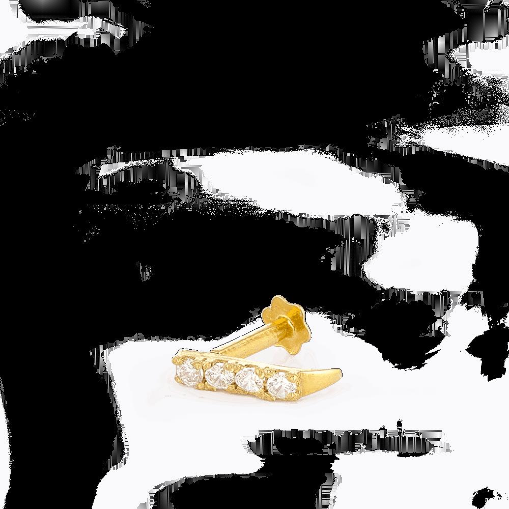 28856_C6 - Indian Gold Nose Stud UK