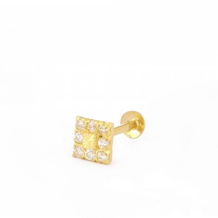 28856_C7 - Indian Gold Nose Stud UK