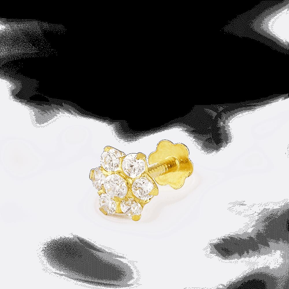 28857_C8 - Indian Gold Nose Stud UK