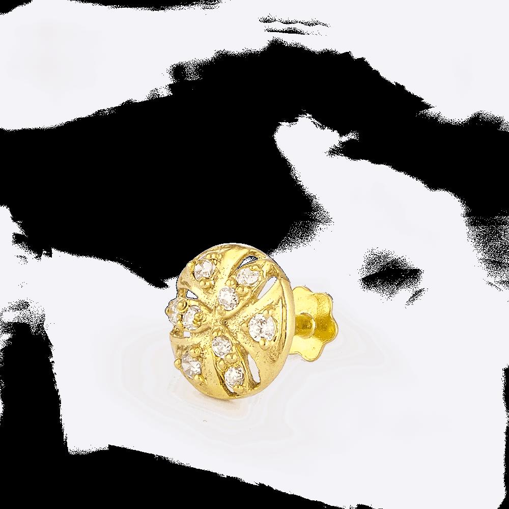 28858_C9 - Indian Gold Nose Pin UK