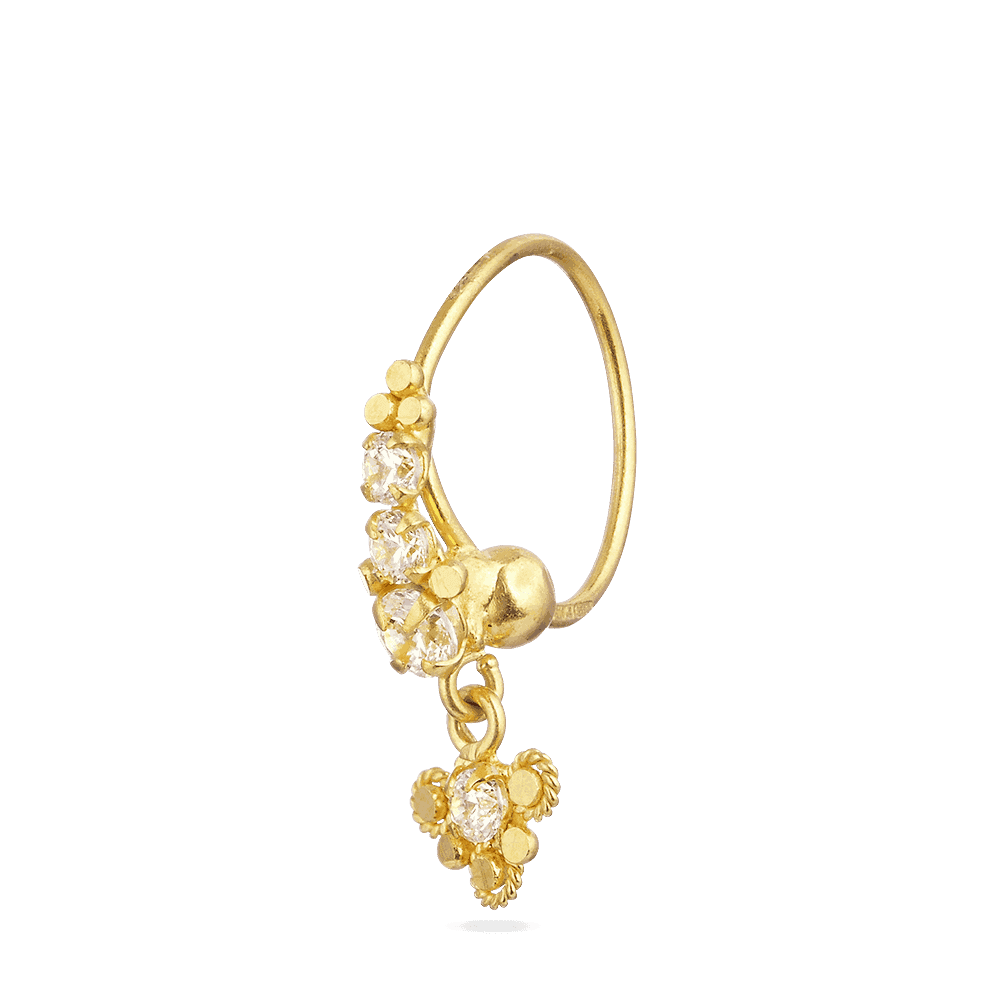 Buy Indian Gold Nose Ring In Modern Styles From Purejewels London Uk