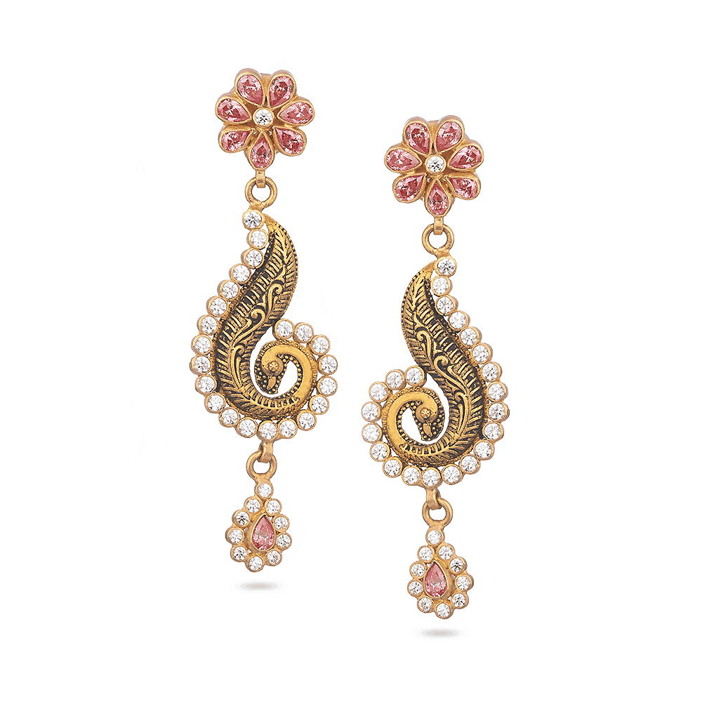 28878 - 22 Carat Gold Indian Earrings