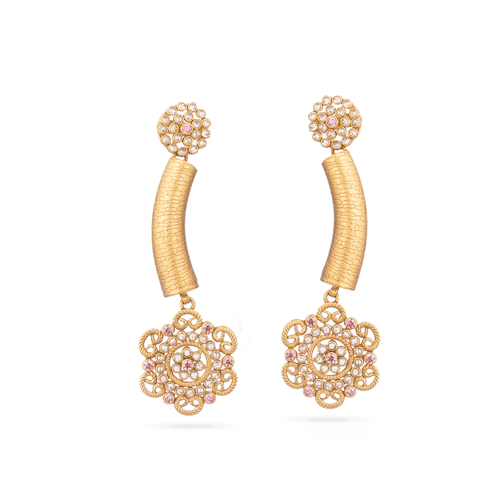 28892 - 22ct Indian Gold Earrings