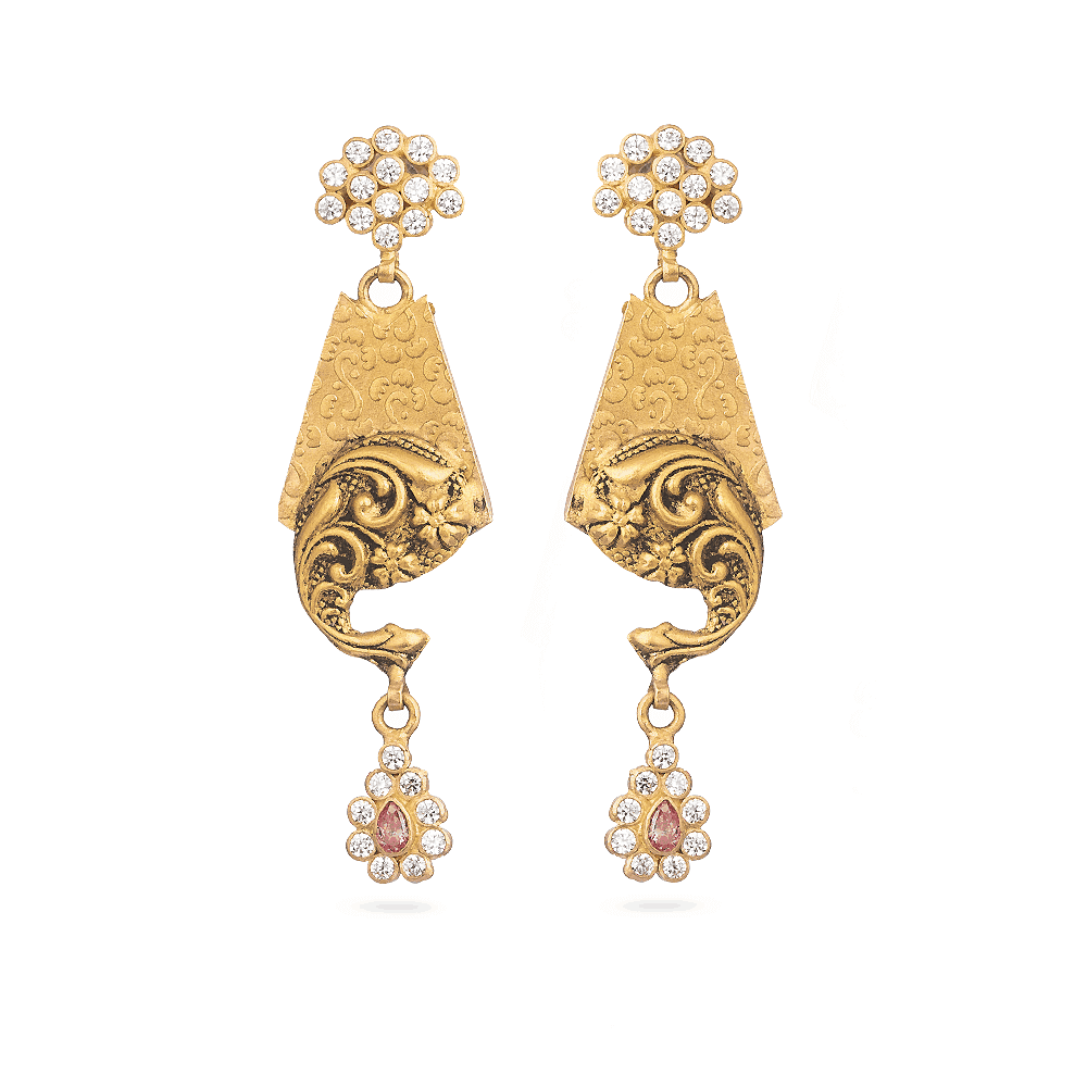 28898 - Indian Earring In 22ct Gold