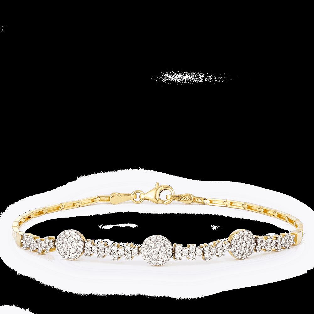 30003, 30004 - 22ct Yellow Gold Cubic Zirconia Bracelet