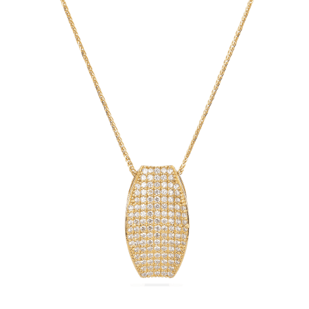 30030 - Cubic Zirconia Pendant in 22ct Yellow Gold