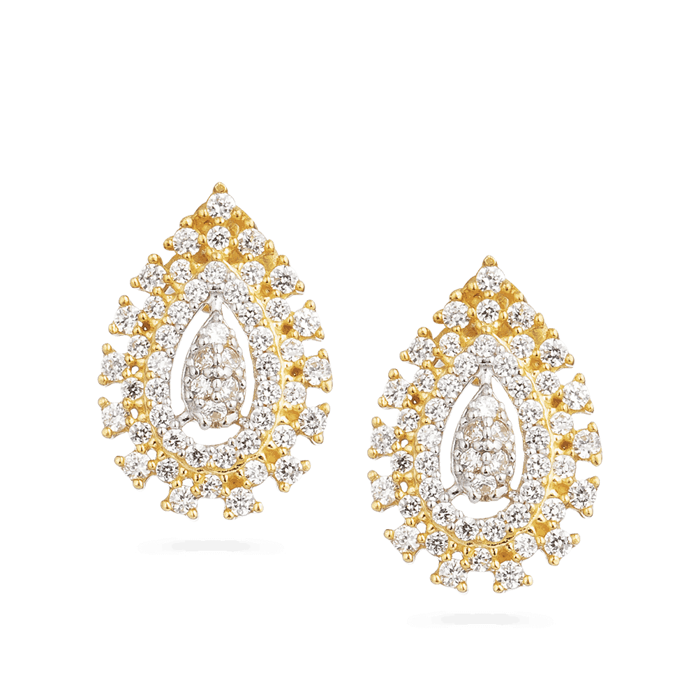 30033 - 22ct Gold Indian Stud Earring