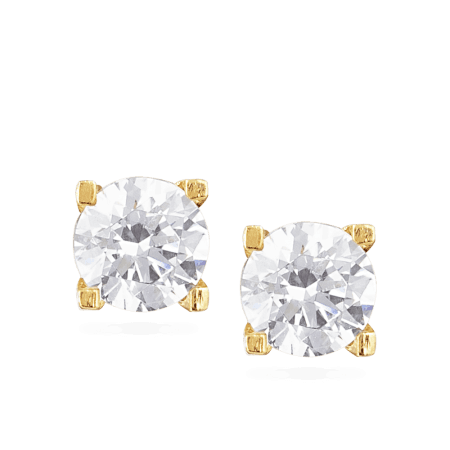 30039 - CZ Stud Earring In 22ct Gold