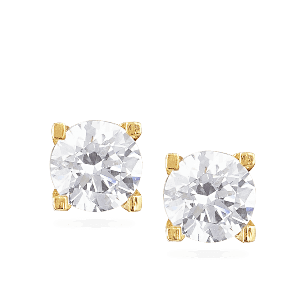 30039, 30042 - CZ Stud Earring In 22ct Gold