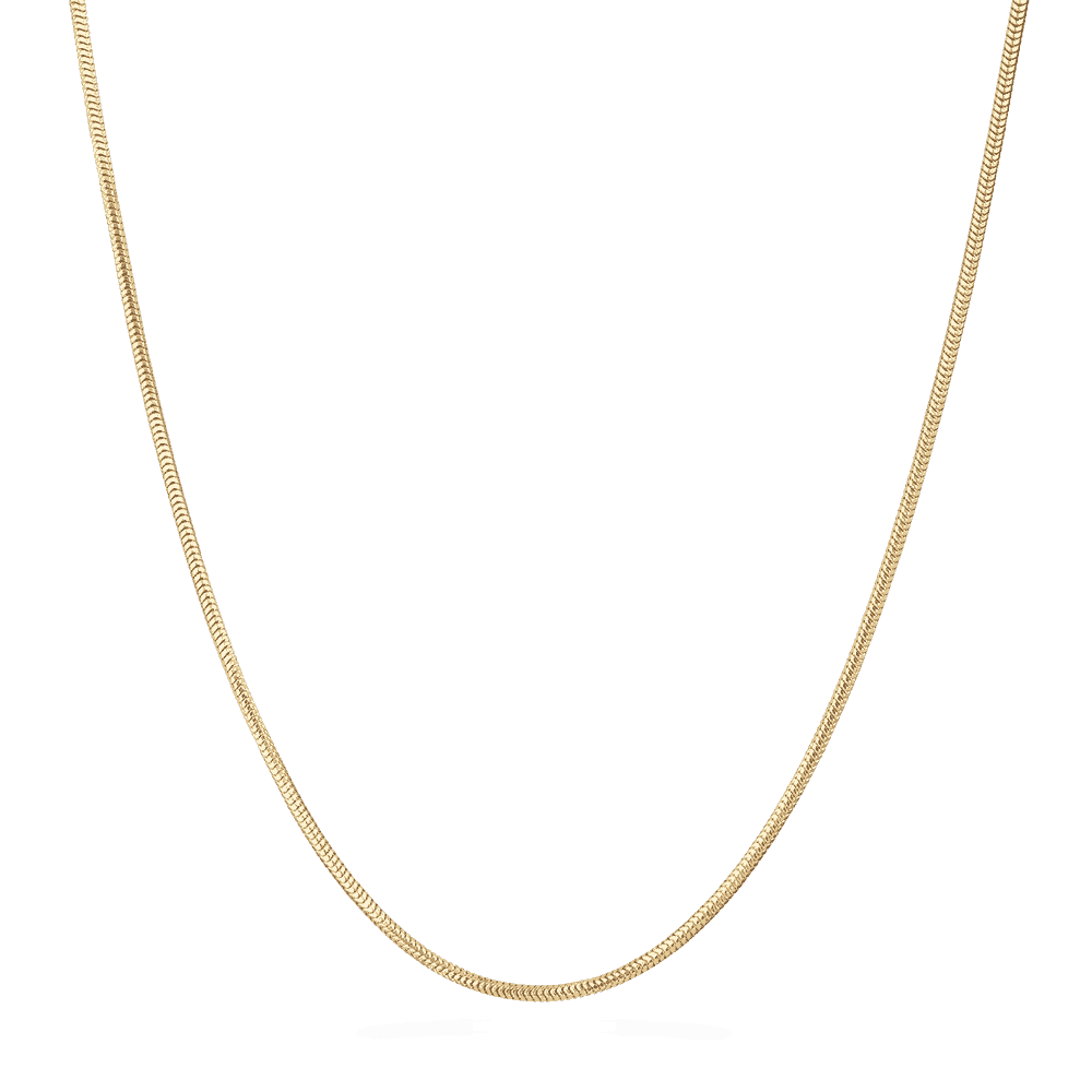 "28433 - 22ct Yellow Gold Snake chain in 16"" inches"