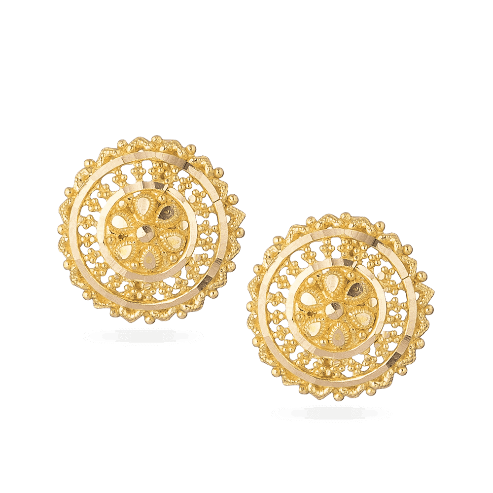 28679 - 22ct Yellow Gold Stud Earrings