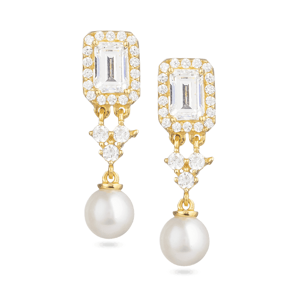 30006 - 22 Carat Gold Earrings With Pearl