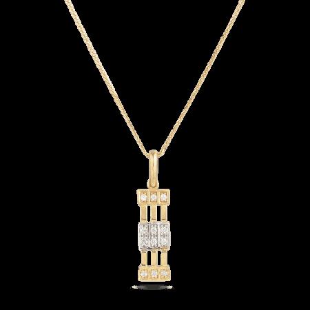 30007 - 22ct yellow gold Cubic Zirconia pendant