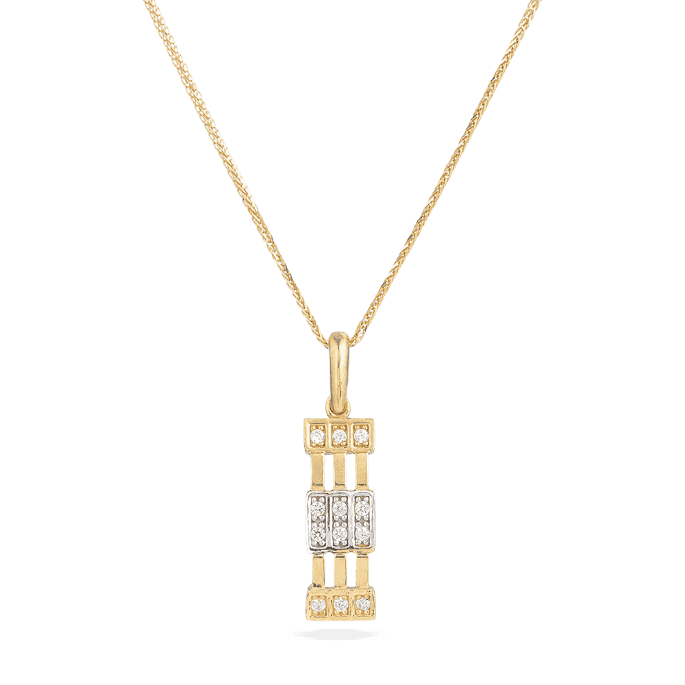 30007 - 22ct yellow gold Cubic Zirconia pendant