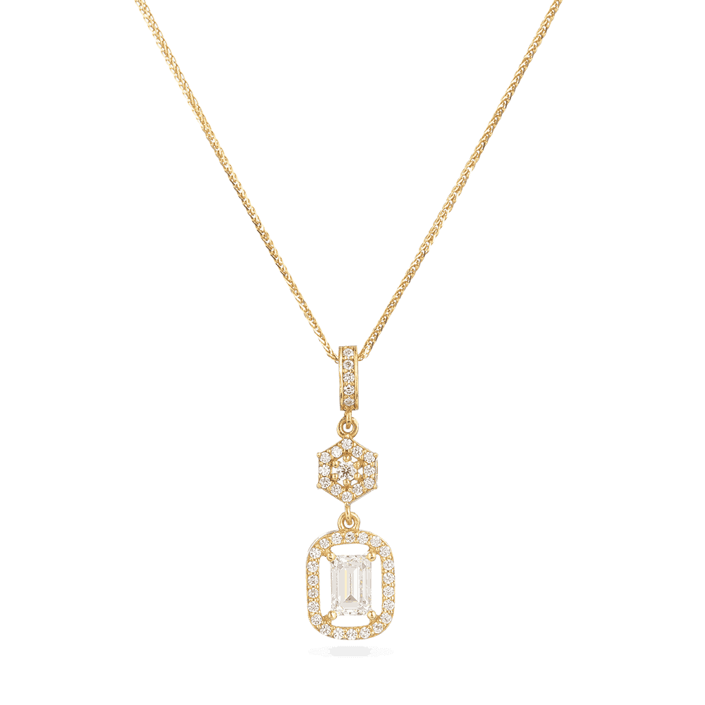 30020 - 22ct Indian Gold Cubic zirconia pendant
