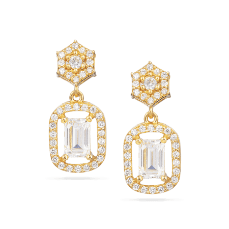 30027 - 22ct Gold Cubic Zirconia Earring
