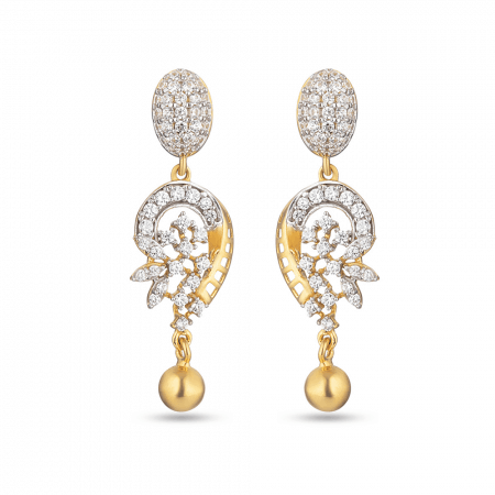 30079 - 22ct Indian Gold Drop Earring