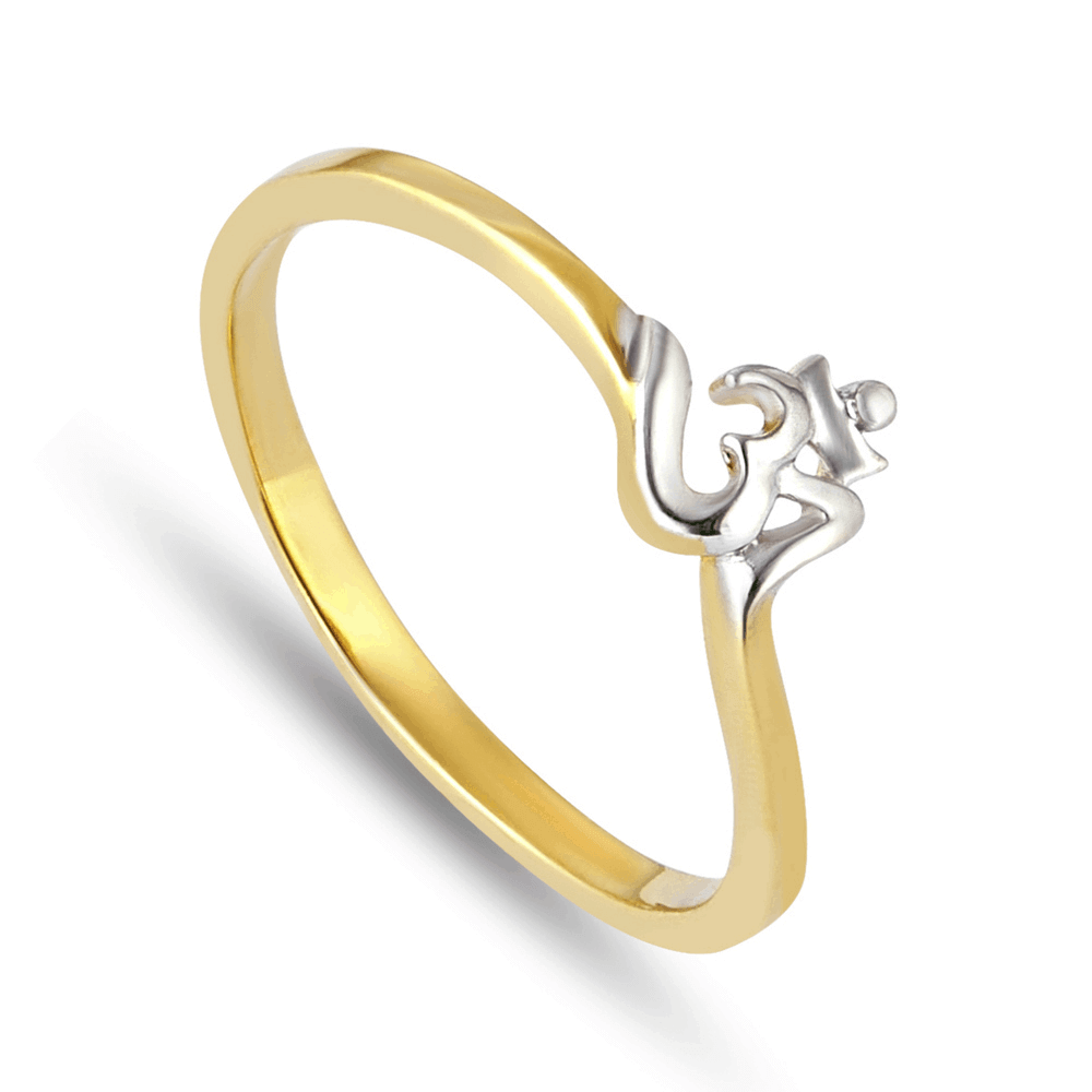 30086 - 22ct Yellow Gold Om Ring