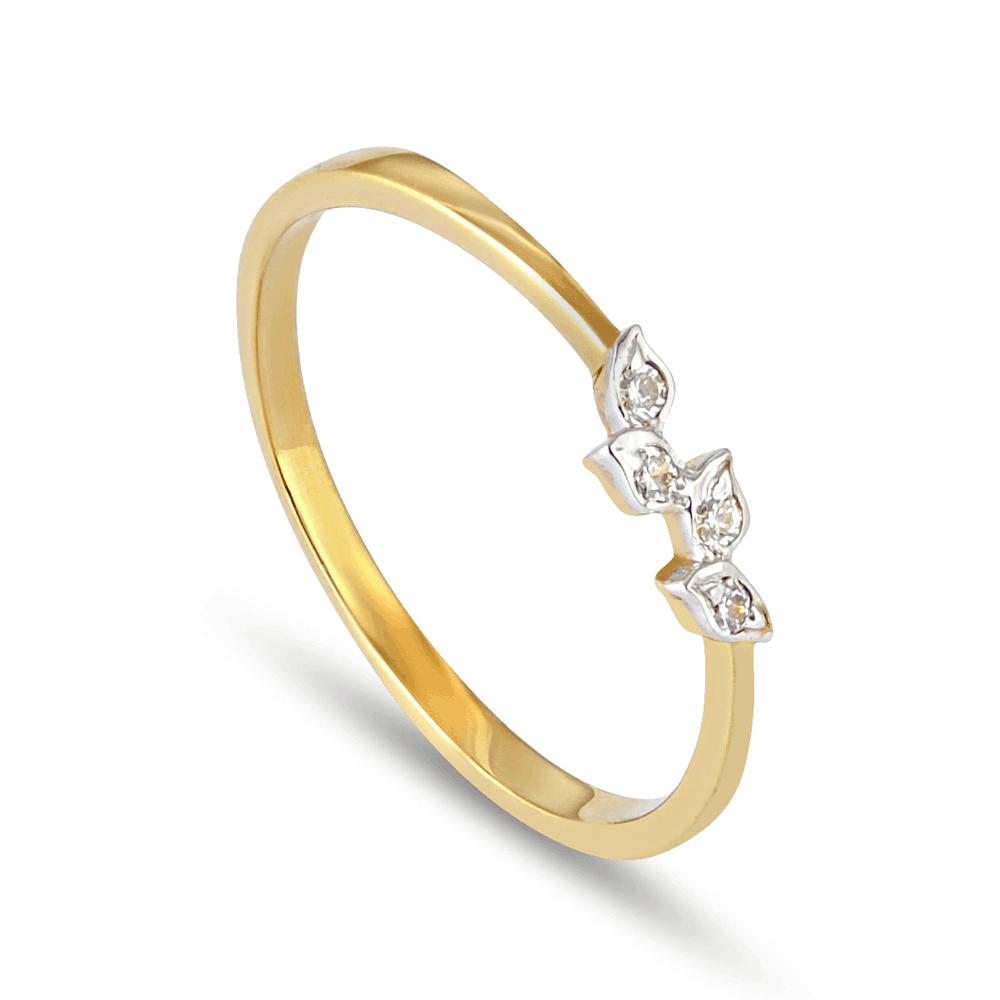 30097 - 22K Gold Ring With Rhodium Finish