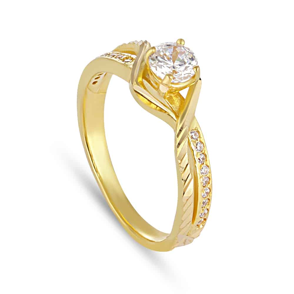 30108 - 22ct Gold Cubic Zirconia Ring