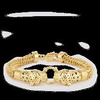 30154 - 22ct Gold Leopard Gents Bracelet