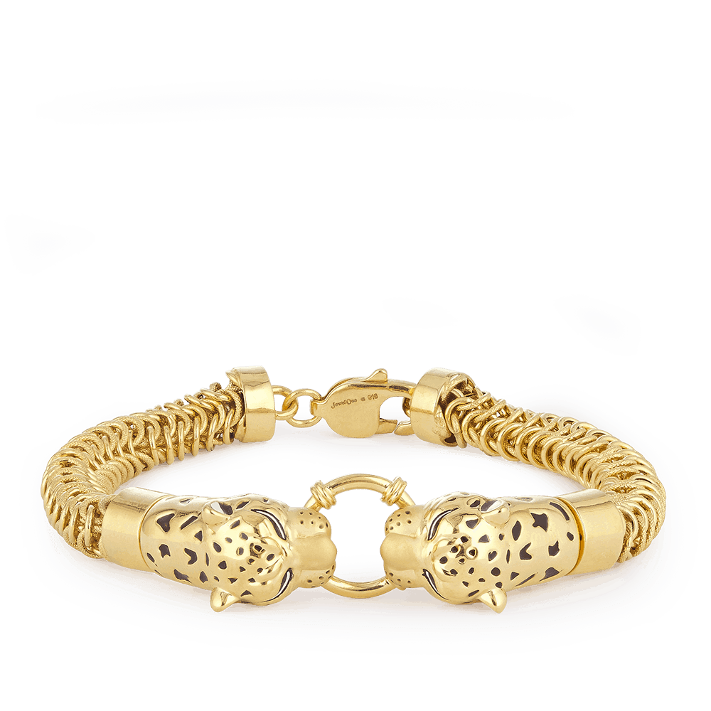 30154 - 22ct Gold Leopard Gents Bracelet