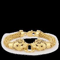 30153 - 22ct Gold Tiger Gents Bracelet